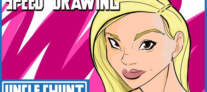 SPEED DRAWING: Blonde Girl (How to draw a female/woman)